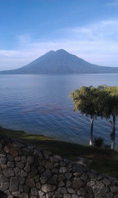 Panajachel. :) View walking to the boat. I LOVED taking pictures of the volcanos. #conozcamosguate