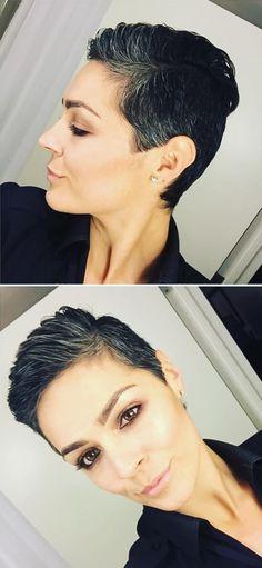 Pixi gray hair
