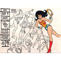 "Cartoon Brew: Wonder Woman model sheet by Alex Toth for Hanna-Barbera's ""Super Friends"" (1973)"
