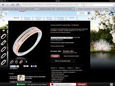 b2ea9cdf9f64 Un peu plus original Or rose or blanc et des diamants répartis différemment  sur les 2 ors 430€ jusqu au 31 12 12 Prix normal 620€