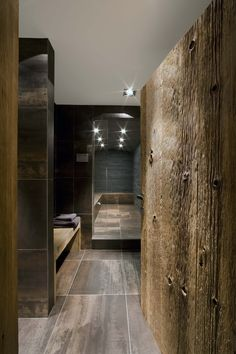 Love the tile and lighting for a bathroom.  BathroomInterior DesignIn The French Alps Photography BySerge Anton