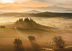 """Travel Photographer Of The Year 2016 National Geographic """"Nascer do sol dourado"""", Toscana, Itália, por Giovanni Modesti"""