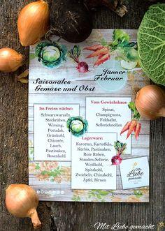 Saisonkalender – welches Obst and Gemüse gibt es aktuell vom heimischen Anbau Fruit And Veg, Chinese Cabbage, Savoy Cabbage