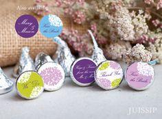 Printable hershey kiss label Hershey kiss sticker Bridal shower Wedding decor Instant download Envelope sealers hydrangea flower Party favor