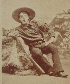 Fantastic 1870's California Cowboy CDV Photograph Armed w Revolver Photo | eBay