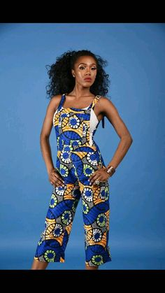 NEW Irene Dungarees African print clothing by RAHYMA on Etsy