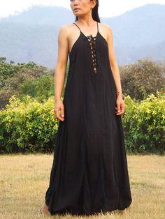 Sensual Me Dress  ..Maxi Dress... Full Length Dress ... Color Black on Etsy, $35.00