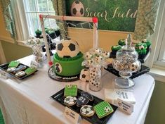 Sport/Soccer baby shower party ideas photo 4 of Soccer Party Favors, Soccer Birthday Parties, Football Birthday, Sports Birthday, Sports Party, 9th Birthday, Soccer Baby Showers, Boy Baby Shower Themes, Baby Boy Shower