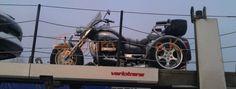 Motorrad Überführung per offenen Autotransporter von Deutschland nach Russland, Motorrad Rewaco CT2300T - EuroGUS e.K. Internationale Spedition