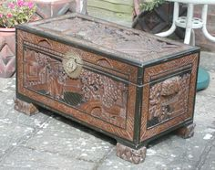 Camphor-wood chest..Camphor chest..Chest ..Trunk.. from enwoods on Ruby Lane