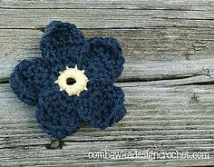 Ravelry: Forget Me Not Flower pattern by Oombawka Design