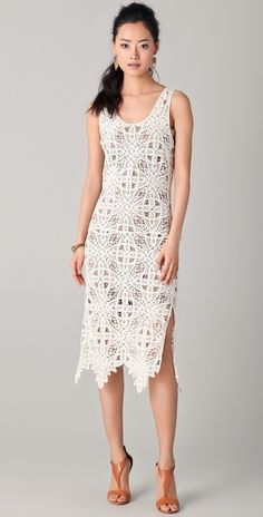 I frickin' ADORE this dress - and it's 1/2 off! Looks like I would be a L in this cut, and all that's available is XS and M.  -- ADDISON Crochet Lace Dress