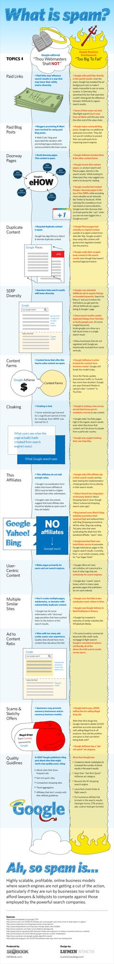 Brilliant infographic from Aaron Wall at SEO Book. What is Spam? Highly scalable, profitable, online business models where search engines are not getting Marketing Articles, E-mail Marketing, Online Marketing, Digital Marketing, What Is Spam, Anti Spam, What Is Search Engine, Blogging, Digital Strategy