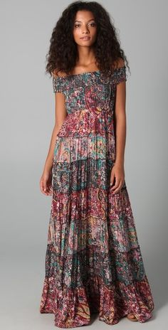 Free People Floral Cascade Maxi Dress