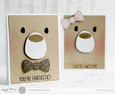 Papell with Love neat idea for an easy bear card Kids Cards, Baby Cards, Punch Art Cards, Bear Card, Baby Shower Invitaciones, Kids Birthday Cards, Card Tags, Paper Cards, Cool Cards