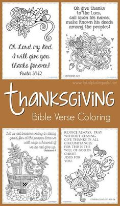 FREE Thanksgiving Bible Verse Coloring Pages - Homeschool Giveaways Thanksgiving Bible Verses, Thanksgiving Coloring Pages, Thanksgiving Crafts For Kids, Thanksgiving Activities, Fall Crafts, Thanksgiving Feast, Bible Verse Coloring Page, Sunday School Crafts, Bible For Kids