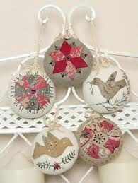 Bilderesultat for patchwork xmas ornaments