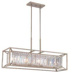 Chandelier, Brushed Nickel Linear Chandeliertransitional Pendant Lighting: amazing linear chandeliers