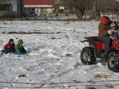 Reading/hobbies: i was play 4wheeler with sled
