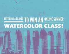 Online Watercolor Painting Class Giveaway!