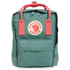 Fjällräven 'Mini Kånken' Water Resistant Backpack ($60) ❤ liked on Polyvore featuring bags, backpacks, fjallraven rucksack, strap backpack, day pack backpack, mini rucksack and water resistant backpack