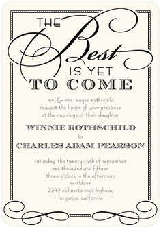 Best of All - Signature White Wedding Invitations - Sarah Hawkins Designs - White : Front