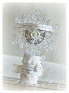 xmas card as an ornament/decor item