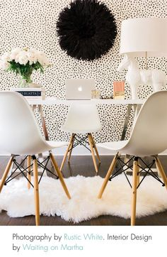 Kourtney Kardashian home office. In love with this!