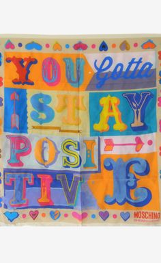 you gotta stay positive