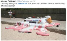 Splurge: This photograph of a melting ice cream van proved popular online