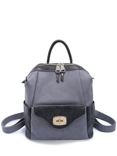 GET $50 NOW | Join RoseGal: Get YOUR $50 NOW!http://www.rosegal.com/satchel/hasp-textured-pu-leather-backpack-709579.html?seid=6807359rg709579
