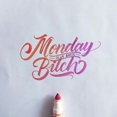 Fantastic lettering work by graphic designer and calligraphy artist David Milan. More lettering inspiration Visit his website Typography Quotes, Typography Letters, Typography Inspiration, Design Inspiration, Calligraphy Artist, Calligraphy Words, Penmanship, Brush Lettering, Lettering Design