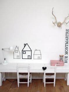 Child room decor in washi tape
