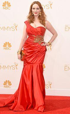 Christina Hendricks at the Primetime Emmy Awards 2014