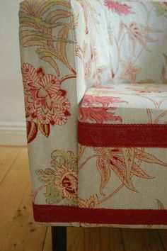Upcycled Bucket chair in lovely floral fabric - etsy