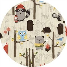 TULA Baby Carrier Campy Novelty Fabric by Timeless Treasures Woodland Animals Owls Beavers Foxes Camping Fishing in Forest on Cream White Novelty Fabric, Novelty Print, Woodland Creatures, Woodland Animals, Rustic Toddler Beds, Kitsch, Hancocks Of Paducah, Timeless Treasures Fabric, Fish Camp