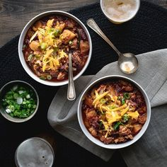 Slow-Cooker Turkey Chili with Butternut Squash Recipe Healthy Slow Cooker, Slow Cooker Recipes, Crockpot Recipes, Healthy Recipes, Lentil Recipes, Healthy Dinners, Chili Recipes, Fall Recipes, Dinner Recipes