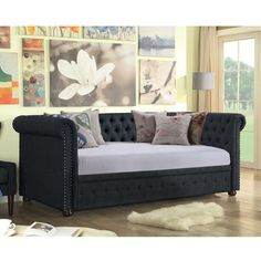 Shop the Brand: Mulhouse Furniture Decor, Daybed With Storage, Furniture, Daybed, Chesterfield, Twin Frame, Bed Sizes, Daybed Room, House Of Hampton
