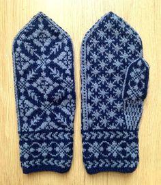 Vottepar nr 45 | Eg sa strikk! Knitting Charts, Baby Knitting Patterns, Knitting Stitches, Knitting Socks, Hand Knitting, Crochet Mittens, Crochet Gloves, Knit Crochet, Norwegian Knitting