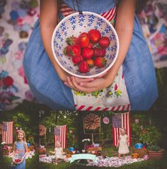 4th of july individual desserts