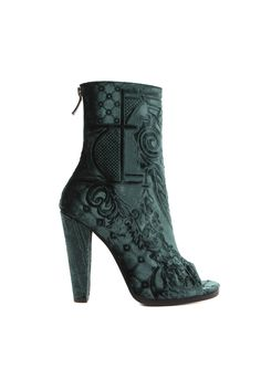 fall 2012, Balmain, shoes, high heels, boots + booties, green