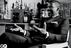 Omg! This man with his salt & pepper hair & this goatee honey! YES! YES! YES!! Denzel, Denzel