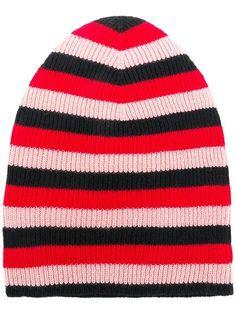 d83249ee983 Shop Sonia Rykiel striped beanie hat Sonia Rykiel