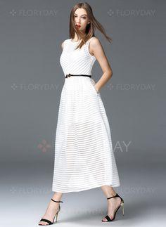Kleider - $69.84 - Polyester Ärmellos Maxi Lässige Kleidung Kleider (1955094890)