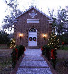 Whitefield Chapel in wintertime.
