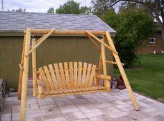 wood swing on pinterest swings wooden swings and red cedar. Black Bedroom Furniture Sets. Home Design Ideas