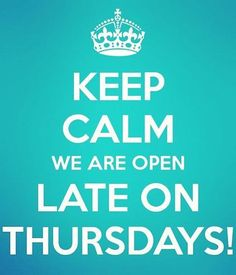 Come on in!  We are open until 7 pm on Thursday nights!  #BentFork #EveningShopper