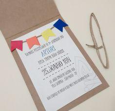 convite festa junina - balão