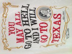 Alamo  Davy Crockett, he was married to my third great aunt Elizabeth Patton Crockett. :) she was his widow.
