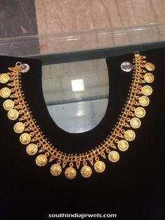 Latest Gold Kasumalai Design with red stones